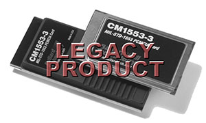 PCMCIA Interface for MIL-STD-1553 Type II or Type III Case